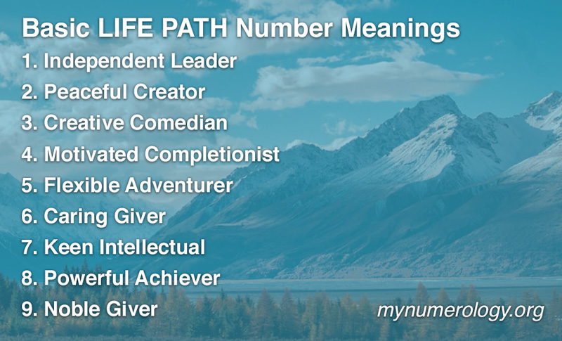 Numerology Life Path Number Meanings